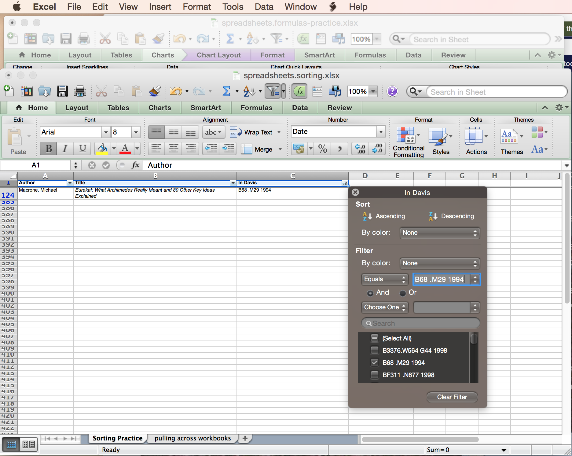 Inls161 001 fall 2015 information tools spreadsheets as databases