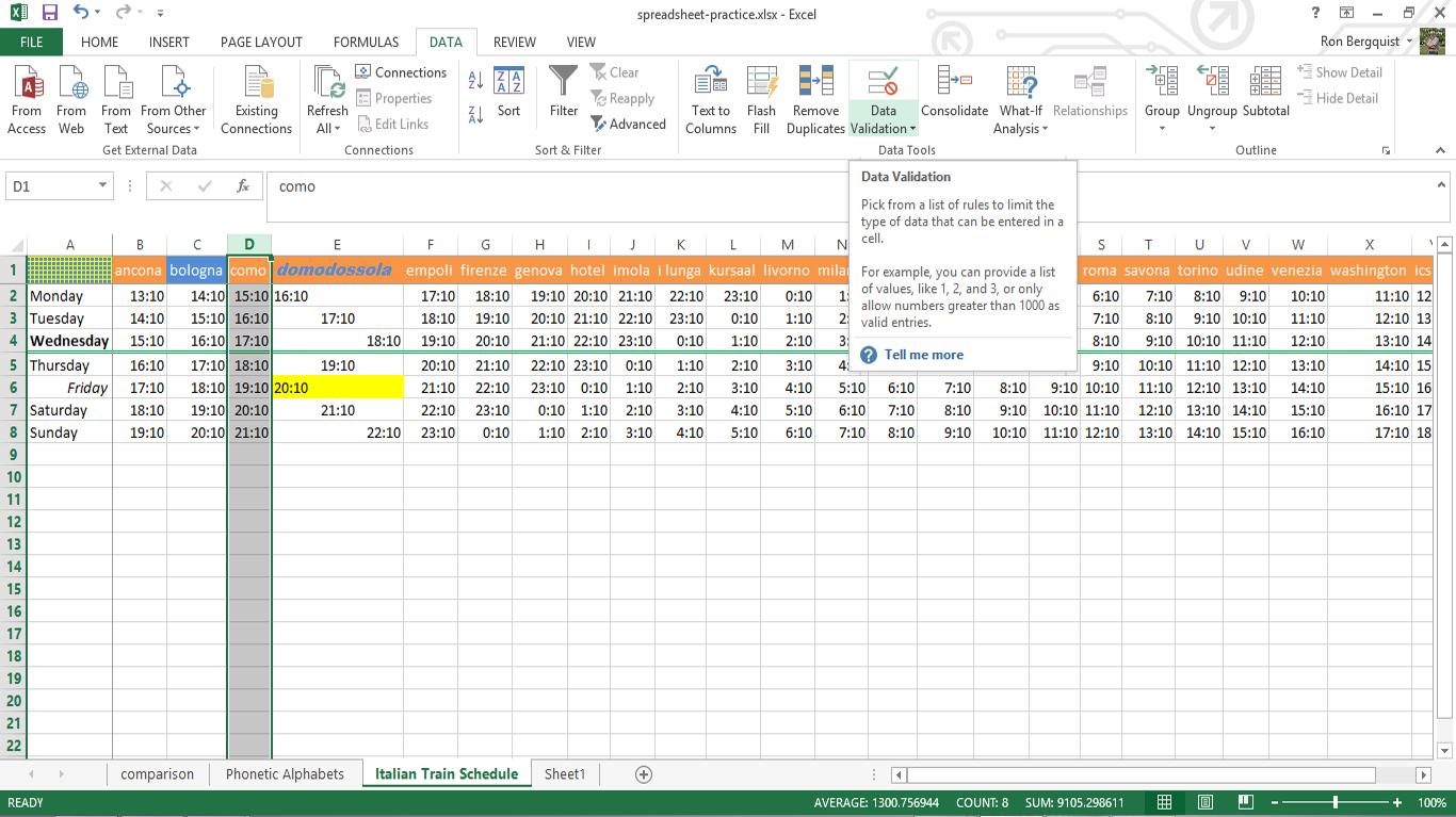 Workbooks copy formulas between workbooks : INLS161-004 Fall 2016 Information Tools | setting up a spreadsheet ...
