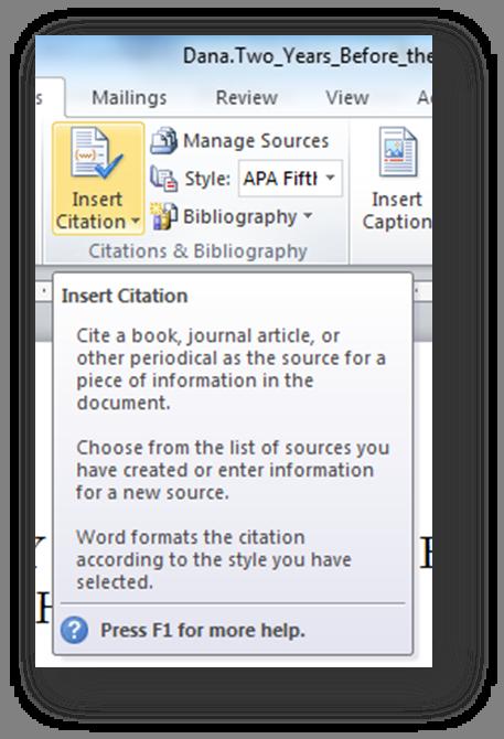 [MSWord 2010 insert citation dialog box]