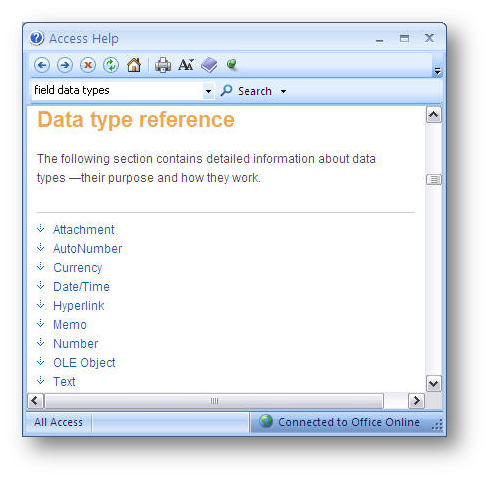 data type reference