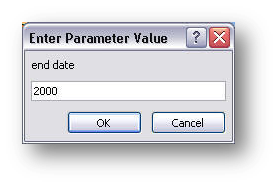 parameter dialog box, third value