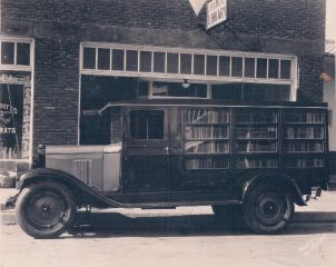 Lexington Library 1929 Bookmobile
